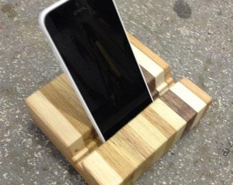 Reclaimed Pallet Wood iPad / iPhone Docking Station