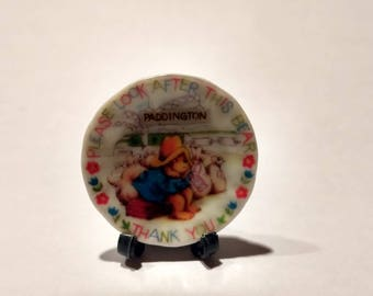 Dolls House miniature Paddington Bear plate