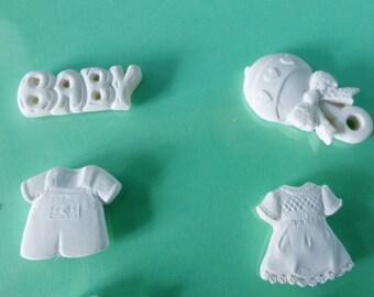 4 embellishment Baby Rattle overalls boy Baby girl dress