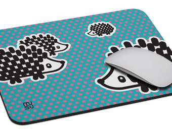 Hedgehog - Mouse Pad - Soft Fabric Top - Heavy duty natural rubber backing - Custom made