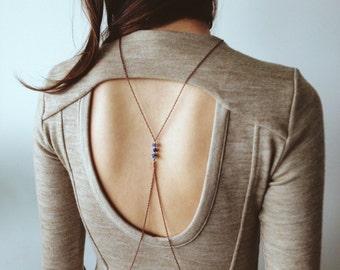 Lapis Body Chain