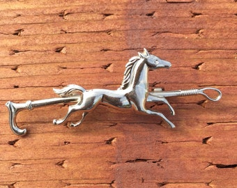 Horse Crop Brooch Pin