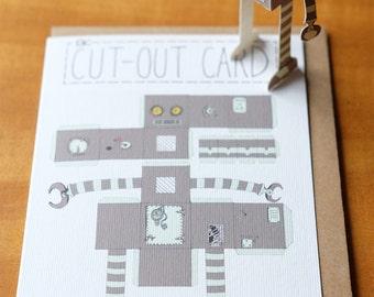 A6 Cut Out Card -  Robot