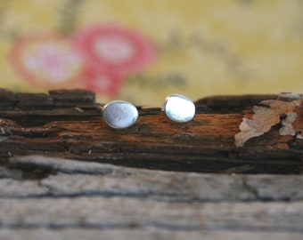Sterling Silver Stud Earrings with a Dot - Stud Earrings - Sterling Silver Post Earrings | Handcrafted Jewelry