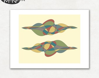 UNTITLED (v2), Modern Mid Century Abstract, Giclee Fine Art Print for the Home Decor