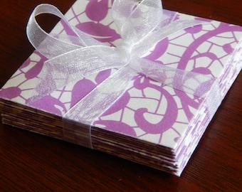 Lavender Lace Pattern Envelopes, Tiny Envelopes, Small Envelopes, Gift Enclosures, Gift Tags, Wedding Keepsake Envelopes, Mini Note Cards