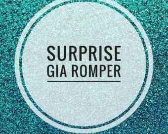 Surprise Gia romper, harem romper, baby, bodysuit, stretch corduroy top, roses, flowers