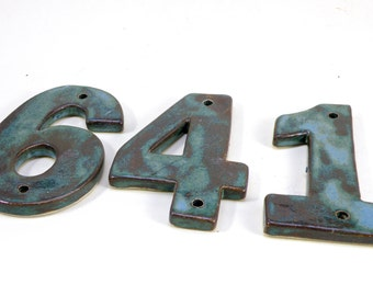 House Numbers,Stoneware House Tiles, Ceramic house Address Numbers