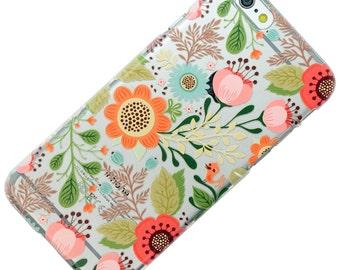 Flower Floral Cutout Pattern Transparent Clear Phone Case iPhone 6, 7, SE, 6 Plus, 7 Plus, 6S, 5, 5C, 5S, Galaxy S6, S7, Note 5, Note 7