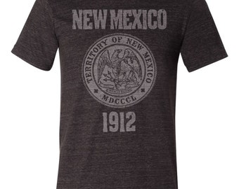 New Mexico State Seal T-Shirt Vintage Style Soft Retro Southwest Shirt Unisex Men's Slim Fit and Women's Tee