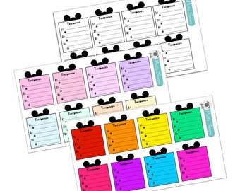 Disney FastPass Vacation Planning Stickers - Disney Planner Stickers