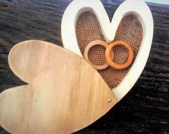 porta anillos original, porta anillos boda, caja para anillo boda, wedding ring box rustic, ring box wedding