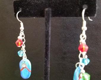 Flip flop dangling earrings