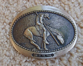 Buckle, Western Buckle, The End of the Trail, Cowboy Belt Buckle, Humorous Buckle