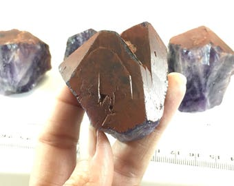 Hematite Capped Amethyst Crystals - Natural Amethyst Stones - Unique Amethyst Crystal - February Birthstone