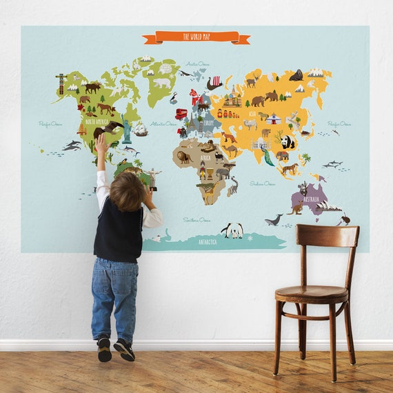 World map peel and stick poster sticker gumiabroncs Gallery