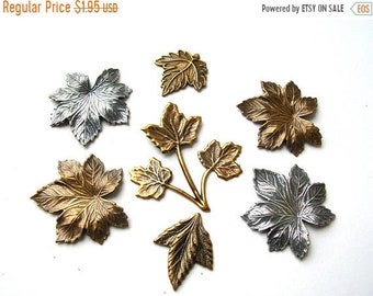 Clearance Sale Small Stamped Brass Leaves - Brass Stamping Lot - Brass Leaves - Brass Leaf Findings