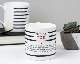 Tom Hardy Mug - Tom Hardy Poem Bone China Mug - Tom Hardy Gift - Gift Mug
