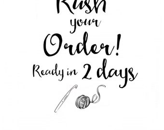 Two day RUSH for your ToryMakes order!