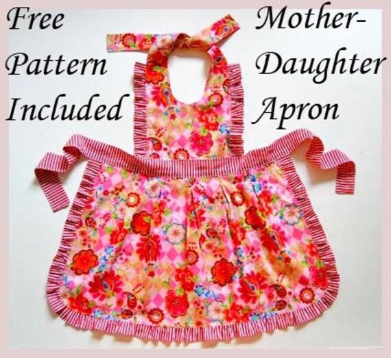 Mia Girls Dress pattern + Free Mother-Daughter Apron Pattern, SEWING ...