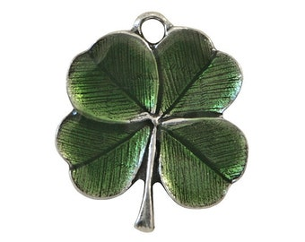 Danforth Clover 3/4 inch (21 mm ) Shamrock Pewter Charm