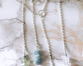 Healing Crystal Lariat Necklace