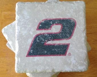 NASCAR Brad Keselowski #2 Set of 4 Drink Coaster