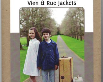 Patterns by Figgys Vien & Rue Spring Jackets Pattern Size 18 mos-6/7 Girls Boys Uncut