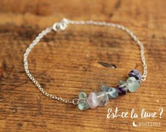 """SILVER 925 - Bracelet """"Beautiful stone"""" Fluorite"""
