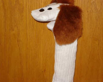 Brown Dog Puppy Sock Puppet from Puppets by Margie