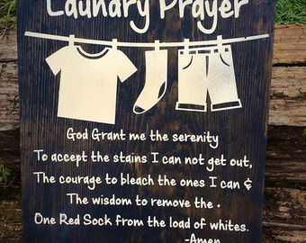 Funny Laundry Room Sign, Laundry Room Decor, Christmas Gifts for Mom, Laundry Serenity Prayer Wall Art, Farmhouse Decor, Funny Laundry Sign
