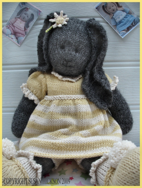 DAISY Rabbit / Toy Knitting Pattern/ Pdf Bunny Knitting Pattern ...