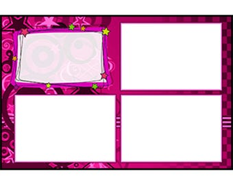 Photo Strip Template for Photo Booths | 4090