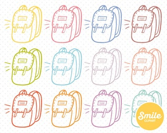Doodle Backpack Clipart Illustration for Commercial Use | 0371