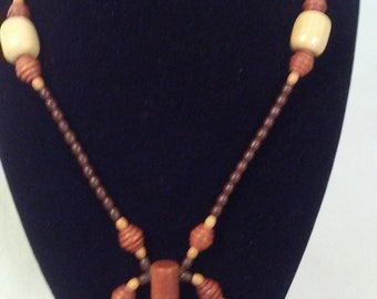 Brown Goldstone Beaded Necklace