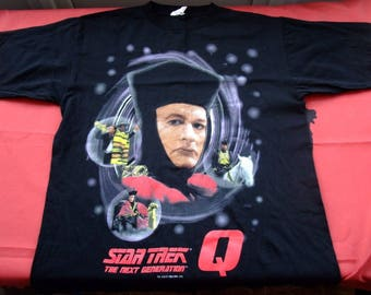 free shipping Star Trek Next GENERATION Queen 1994 RaRE BLACK t-shirt Large