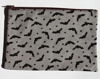 Grey bats flat pencil case