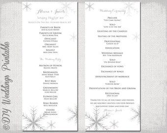 Wedding Program fan template Rustic Burlap & Lace