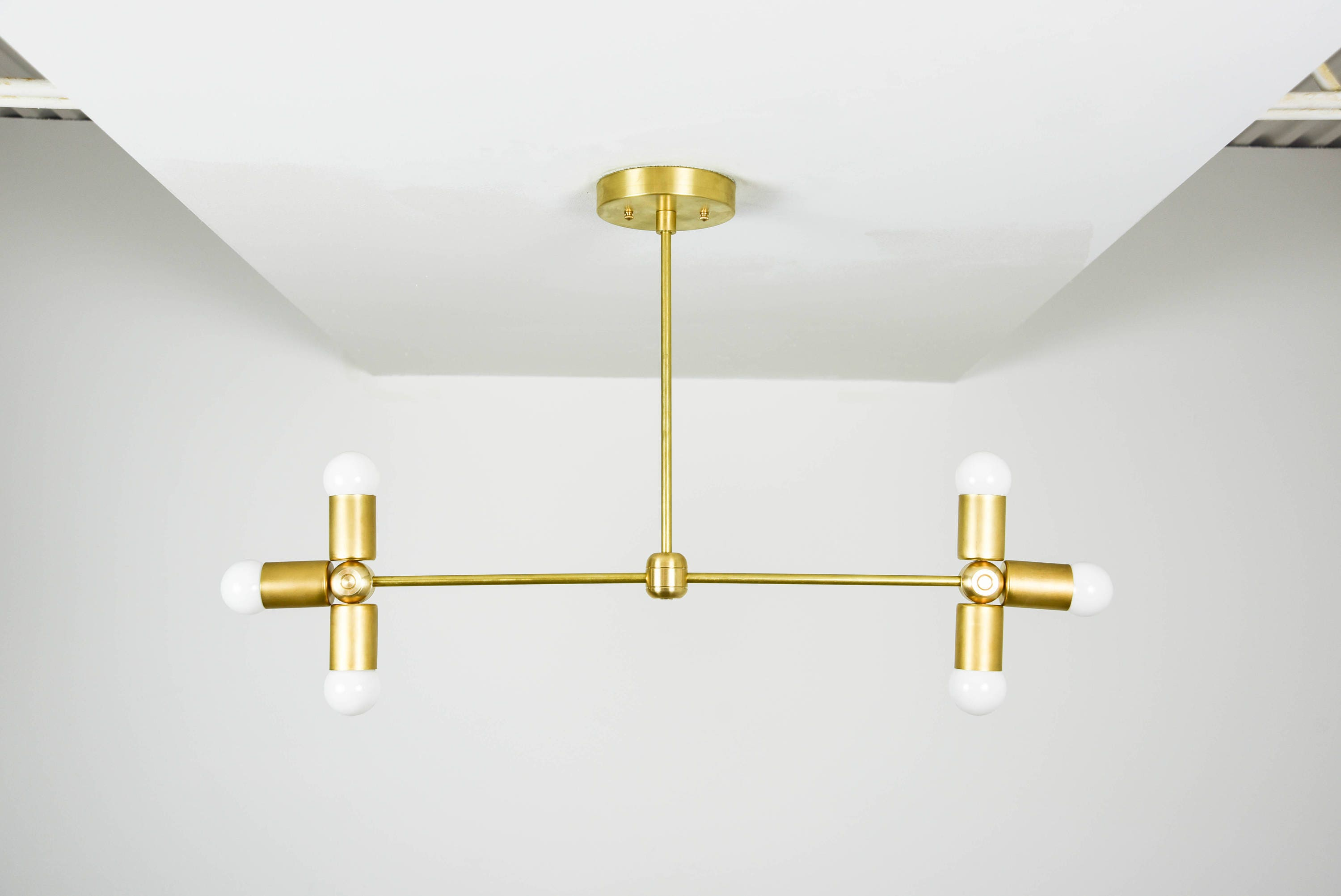 Wall Sconce Vanity 6 Light Wall Sconce Gold Raw Brass 6 Bulb Modern ...