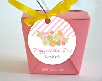 Personalized Happy Mother's Day Tag - DIY Printable Digital File