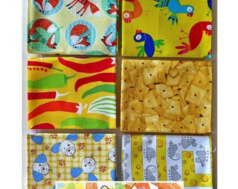 Party Animals, Ispy 6Pc Fat Quarter Bundle - Cotton Benartex Fabric 18inx 21in