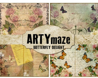 BUTTERFLY Delight Journal Kit INSTANT DOWNLOAD