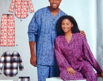 Misses', Men's And Teens Pants And Nightshirt Size Extra Small To Extra Large It's So Easy Simplicity 4931 Uncut Sewing Pattern 2004