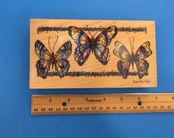 Butterflies #90247 Rubber Stamp