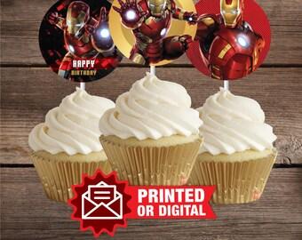 Iron man cupcake Etsy