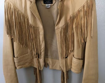 Vintage Fringed Leather Jacket