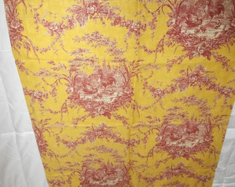 Waverly La Petite Ferme Rooster Toile Curtain Panels Five NOS