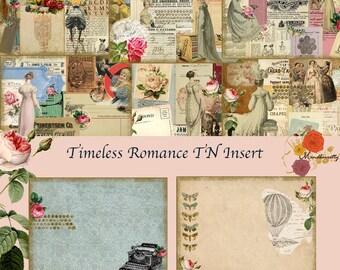 Midori/TN insert- Timeless Romance  (Digital paper)