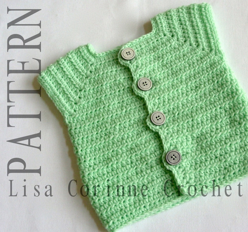 Baby Boy Sweater Vest Crochet PATTERNS Sweater Vest PATTERN