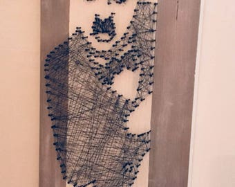 Painting String Art Charlie Chaplin